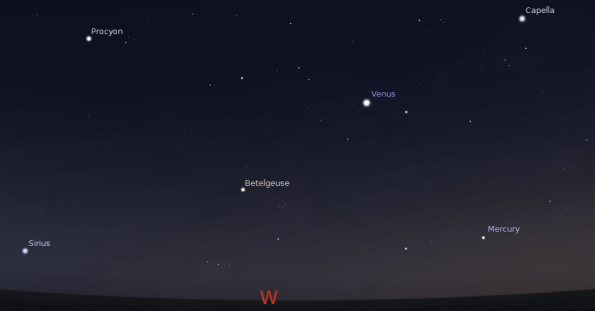 Mercury in the west