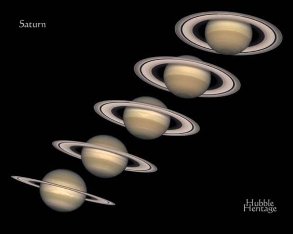 Saturn's rings change.