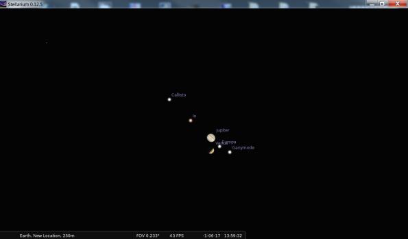 Telescopic Jupiter and Venus 8/12/3 BC.
