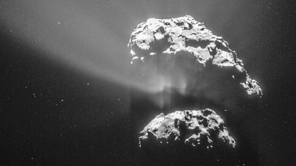 Comet 67P dust jets
