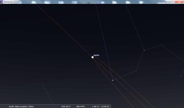 Orbits of Venus and Jupiter 2 BC