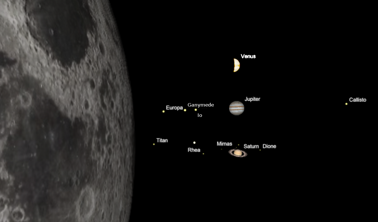 planets and moon distance - photo #19