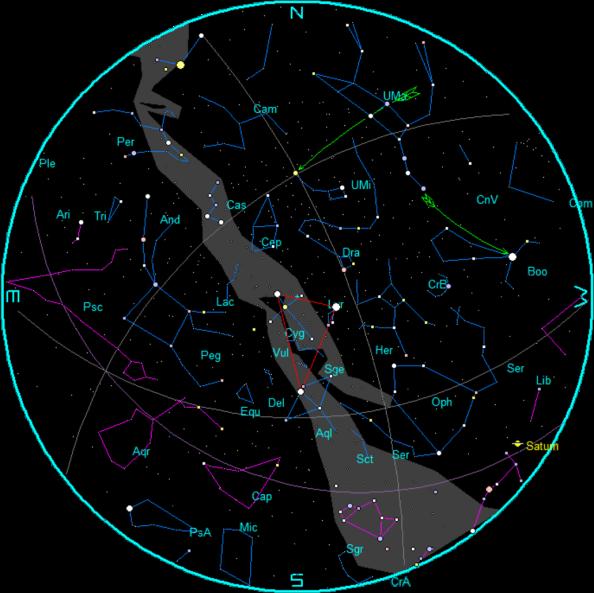 Star Chart for September 2015
