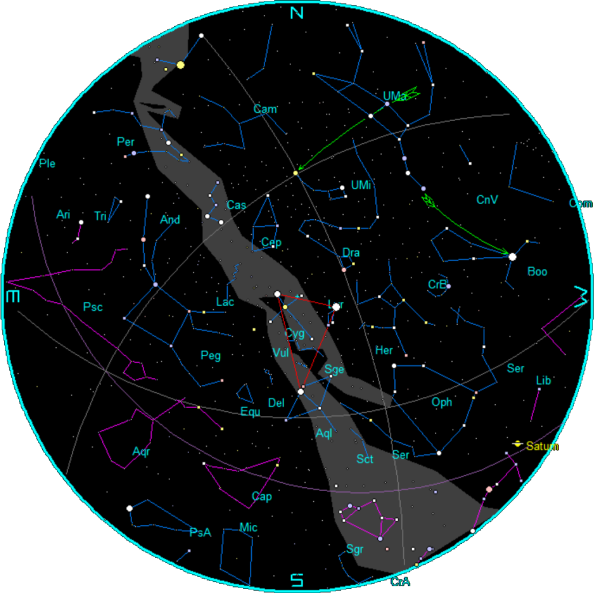 Star Chart for September 2015