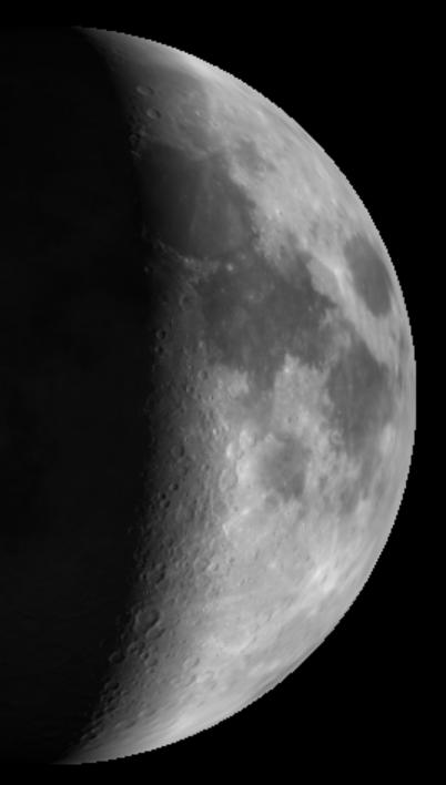 The Moon Saturday Night