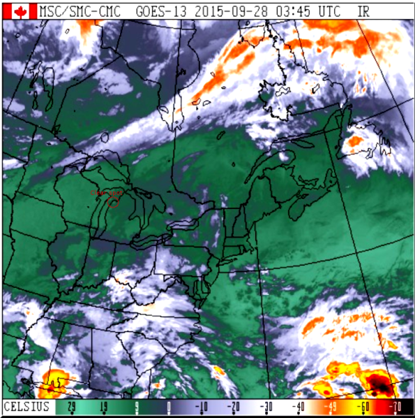 Satellite cloud image