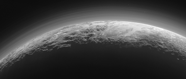 Oblique view of Pluto