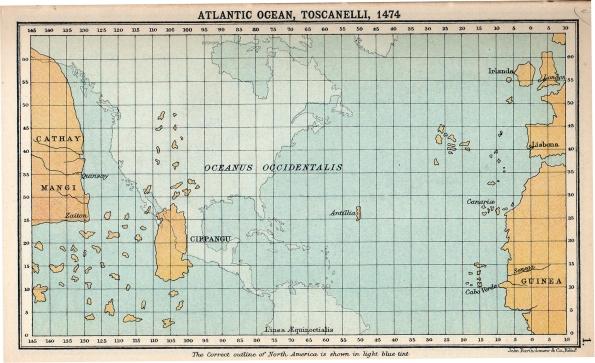 1474 map of the Atlantic Ocean