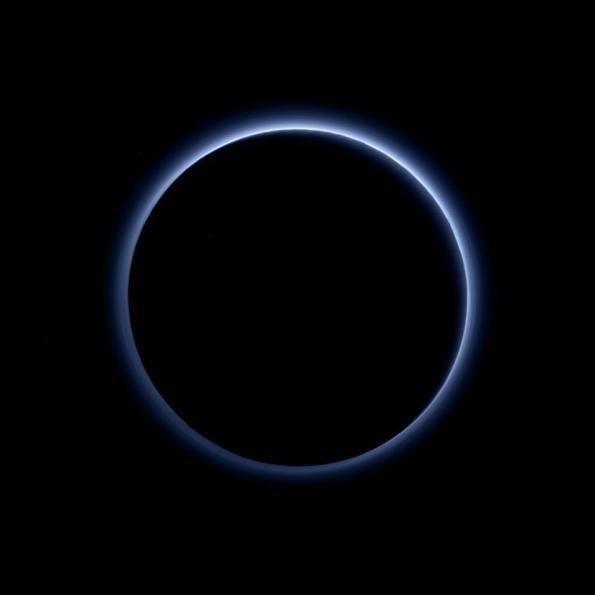 Pluto in Silhouette