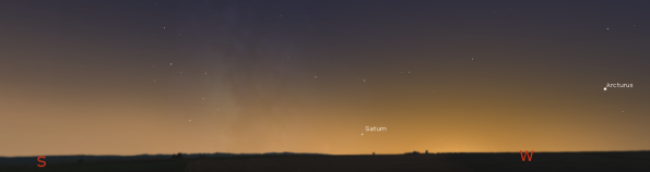 Saturn in twilight