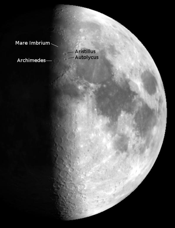 First quarter Moon.