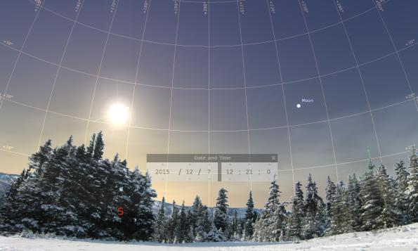 Sky at occultation start