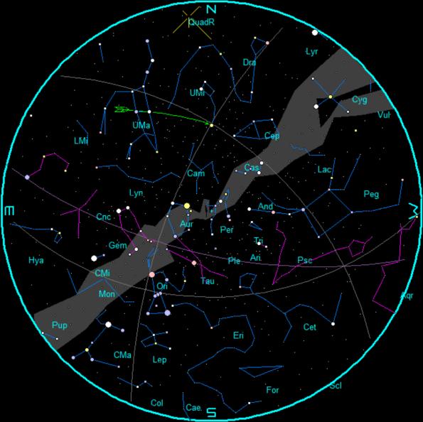 Javnuary Star Chart