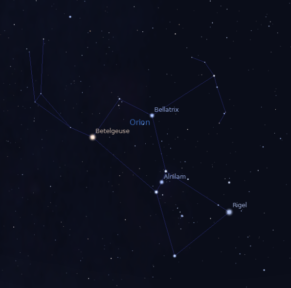 Orion's bright named stars