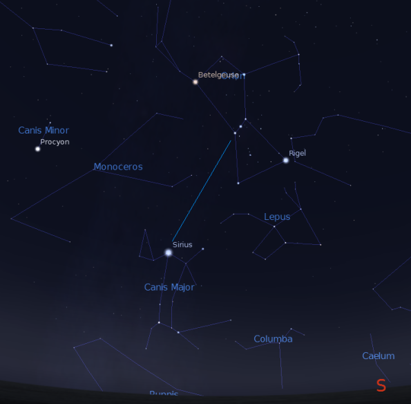 Orion's Belt points to Sirius