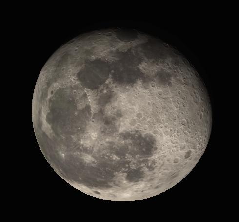 Moon in binoculars
