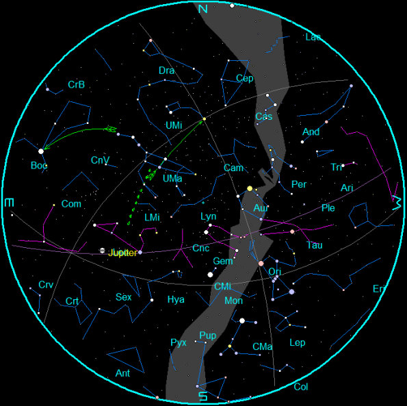 March Star Chart