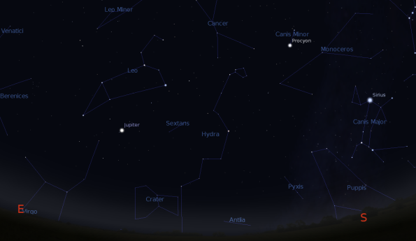 Jupiter and the spring constellations