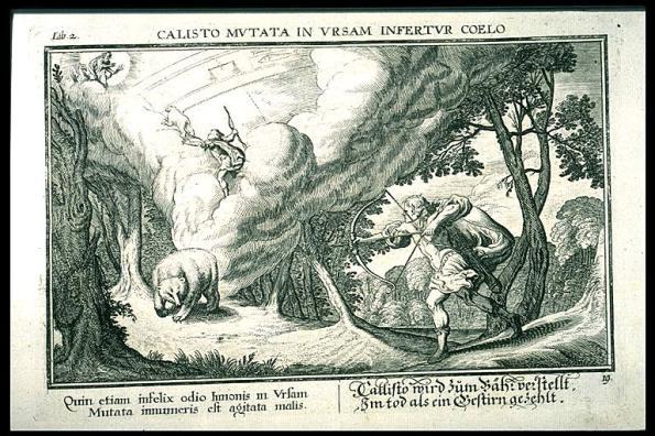 Arcas and Callisto woodcut