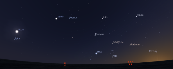 Evening planets.