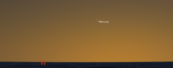 Mercury in twilight