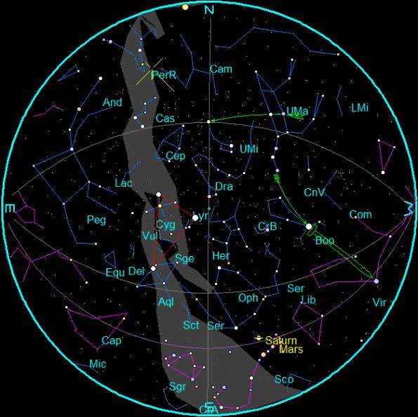 August 2016 Star Chart