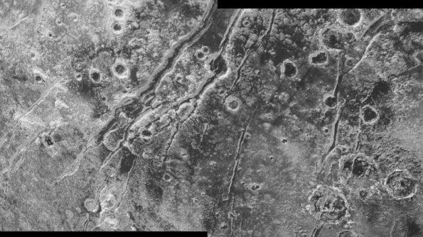 Pluto's faults