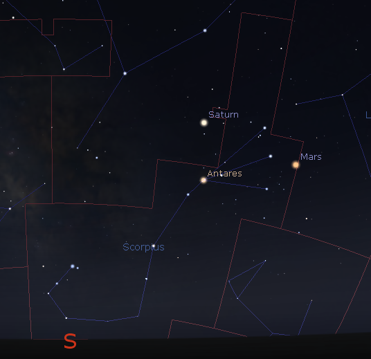 Scorpius with Mars and Saturn