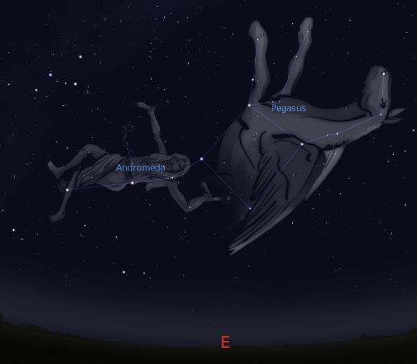 Pegasus and Andromeda, artist view