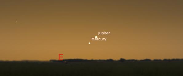 Jupiter and Mercury