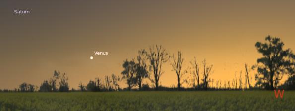 Venus low in the southwest