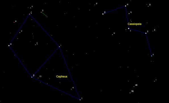 Delta Cephei finder chart