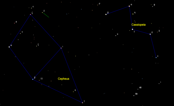 Delta Cephei finder chart