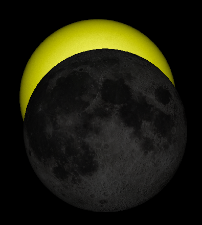 Maximum eclipse in Traverse City