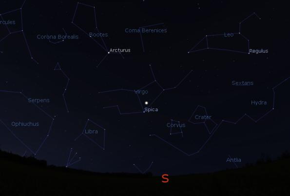 Jupiter and the spring stars