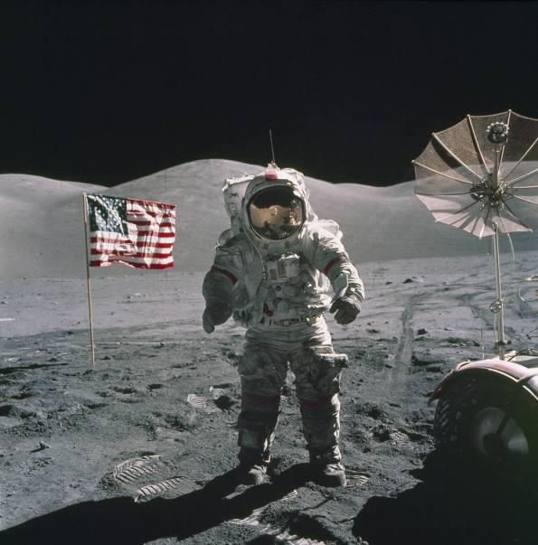 Gene Cernan on the Moon