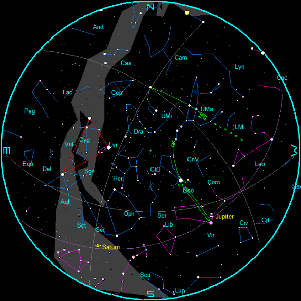 March Morning Star Chart