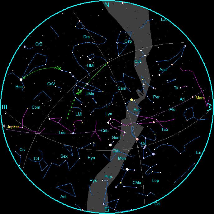 Star Chart | Bob Moler\'s Ephemeris Blog