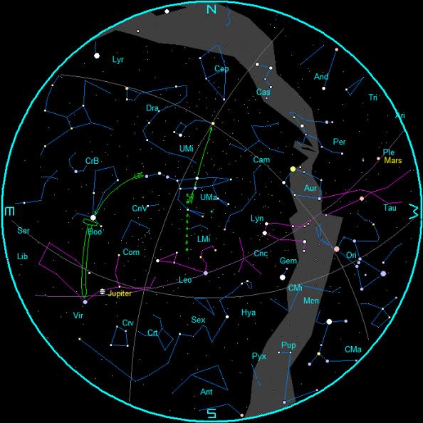 April Star Chart