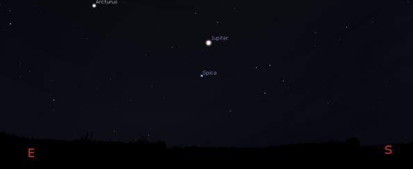 Jupiter at 10 p.m.