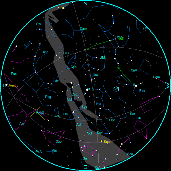 Star Chart for May 2017 mornings