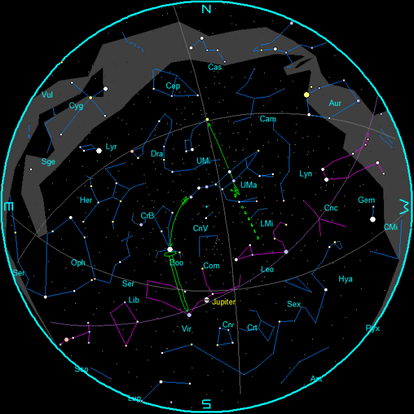 Star Chart for May 2017