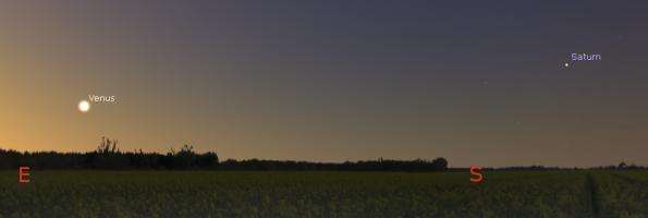 Saturn and Venus at 6 a.m.