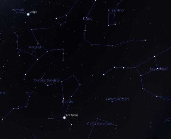 Arcturus finder chart