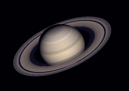 Saturn showing Cassini's Division