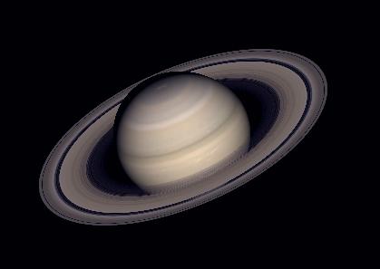 Saturn showing Cassini's Division