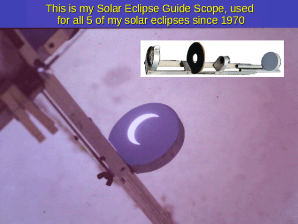 Solar Eclipse Guide Scope