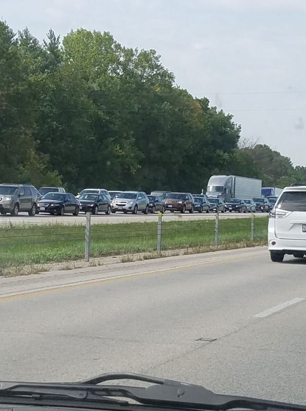 Traffic heading south on I-55