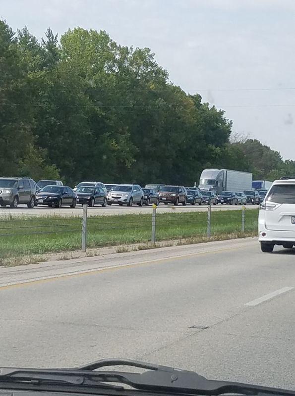 Traffic heading south on I-55