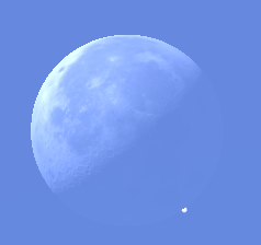 Aldebaran reappearing from behind the Moon